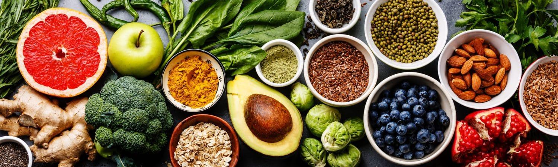 Darstellung von gesundem Essen zum Abnehmen